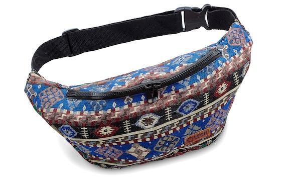 Leon Belt Bag Belly Bag Waist Bag 100% Cotton Fanny pack Hip Bag Shoulder Bag Bumbag BlueRedBlack Design