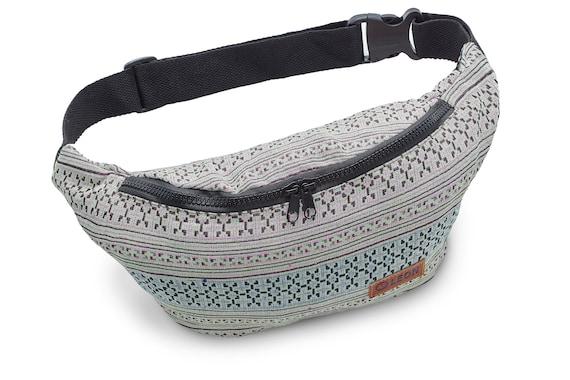 Leon Belt Bag Belly Bag Waist Bag 100% Cotton Fanny pack Hip Bag Shoulder Bag Bumbag GreyGruenRosa Design