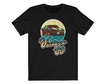 ecaba9a1 Vintage 50th Birthday 1969 Classic Muscle Car Gift Shirt