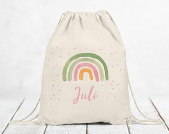 Gym bag cloth bag backpack with name, gift, children's bag personalized