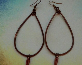 Copper hammered hoops