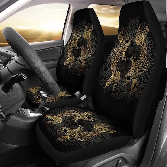 Best Car Seat Covers >> Pisces Zodiac Fish Car Seat Covers Pisces Lover Front Car Cover Gift Custom Car Seats Pair Of Covers Fish Car Seat Print Set