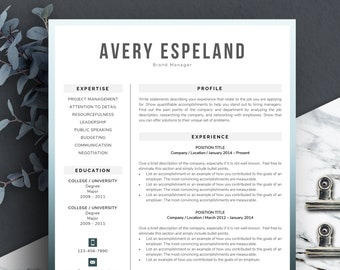 Resume Template One Page, Two Page, Three Page | Curriculum Vitae | Modern Resume Template | Creative Resume Template | CV Design | CV