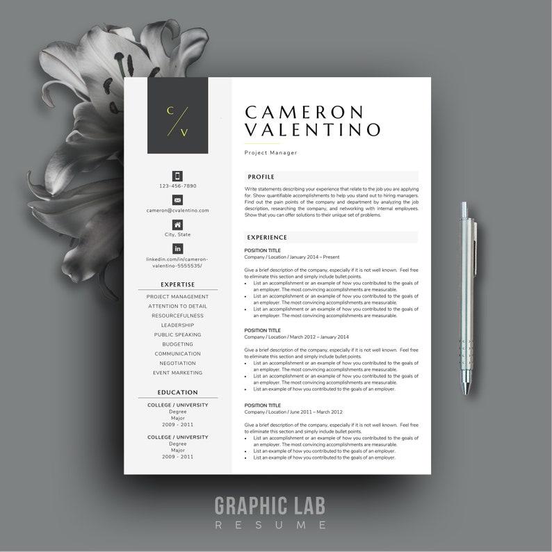 Modern Resume Template CV Design Word