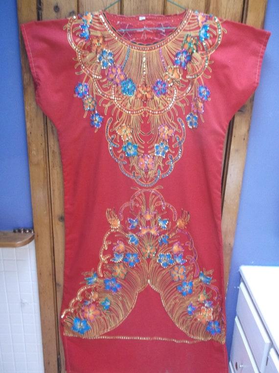 Sparkle embroidered beaded kaftan,caftan Hand mad… - image 2