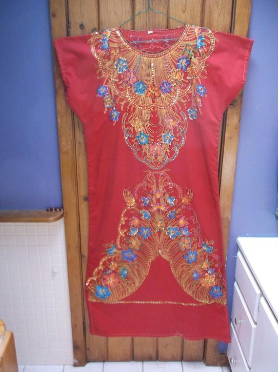 Sparkle embroidered beaded kaftan,caftan Hand made