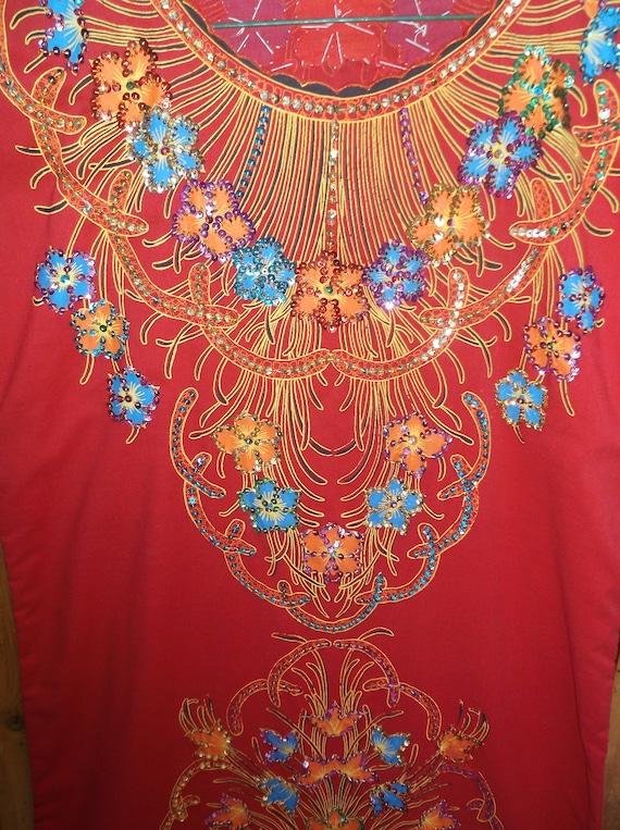 Sparkle embroidered beaded kaftan,caftan Hand mad… - image 3