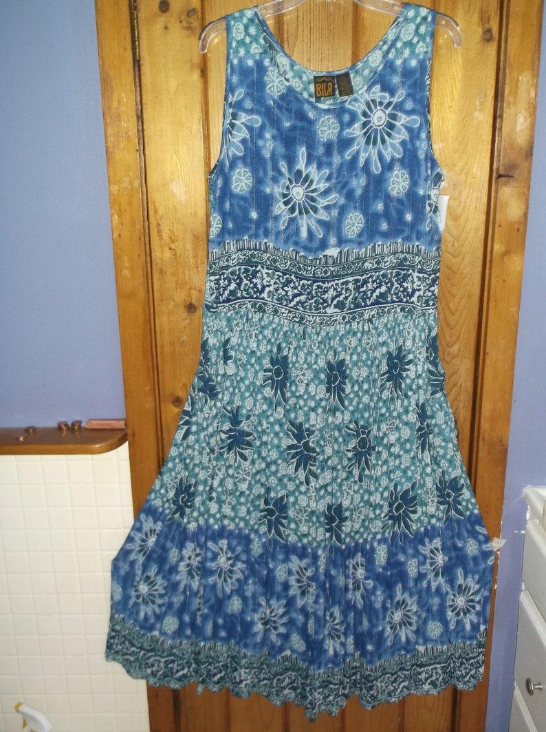 Sway NWT Vintage 90/'s Maxi BILA rayon flowing dress Pockets