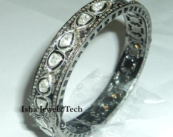Natural Rose Cut Diamond Uncut Diamond Polki Ring Solid 925k Sterling Silver Handmade Victorian Jewelry Ring Jewelry PoonamArtJewels PAJ-50