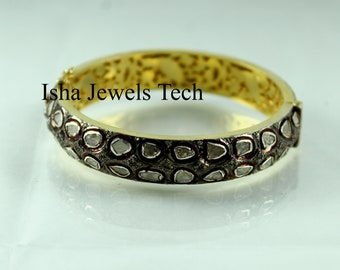 Engagement & Wedding Jewelry & Watches Aggressive Antique Style Rose Cut Diamond 925 Sterling Silver Wedding Bracelet
