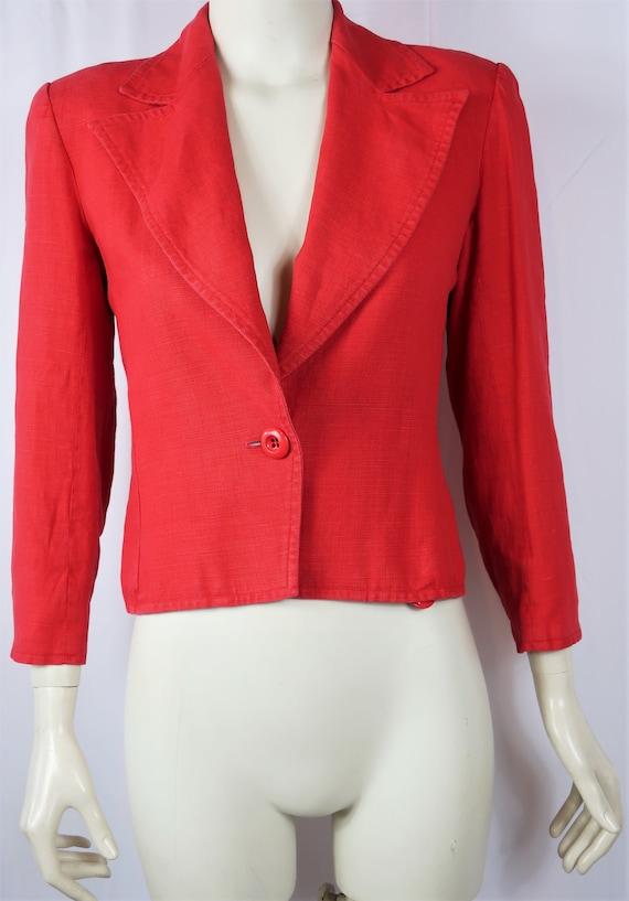 YSL Rive Gauche Red Blazer