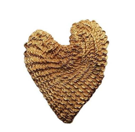 Balenciaga Heart Brooch