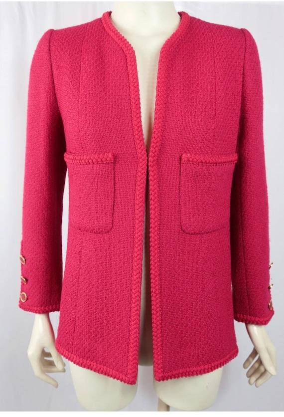 Vintage Chanel rouge long tweed jacket 1990's