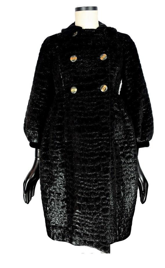 Vintage Marc by Marc Jacobs faux fur black coat .