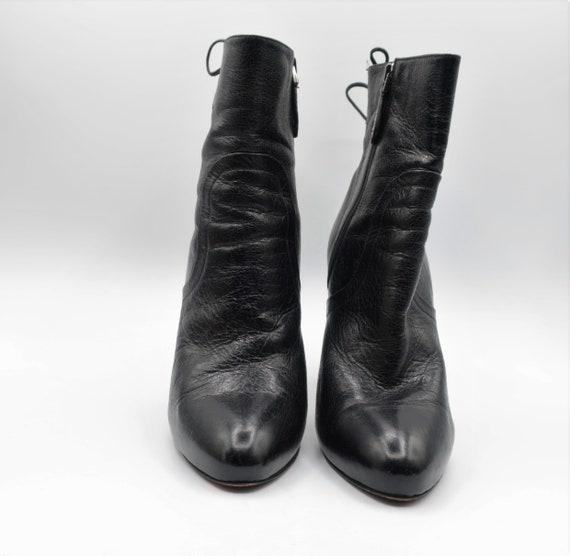 Azzedine Alaïa Black Leather Boots