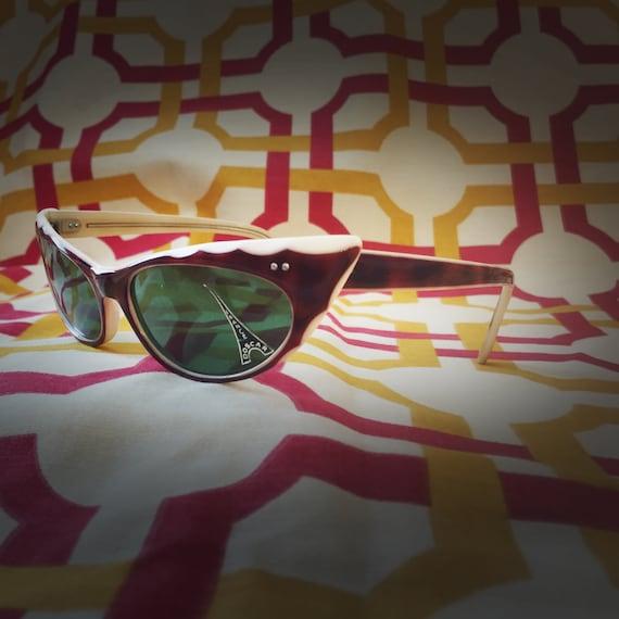 Rare Vintage 50's Sunglasses - image 2