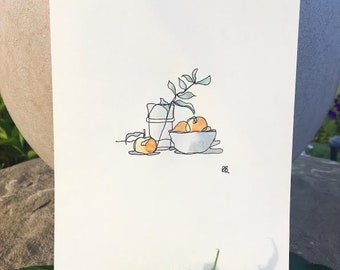 still life of clementines