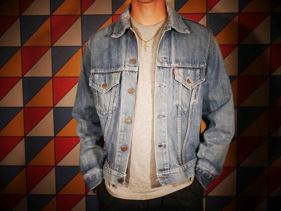 1960's Distressed Levi's Big E Vintage Denim Jacke