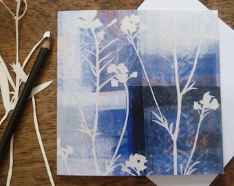 Cuckoo Flowers Greetings Card, Meadows Card, Louise Pettifer, Gardeners Card, Flowers Card, Floral Card, Artist Cards, Blank Cards, FSC Card