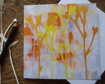 Day Lily Greetings Card, Louise Pettifer, Gardeners Card, Flowers Card, Floral Card, Artist Cards, Blank Cards, FSC Cards