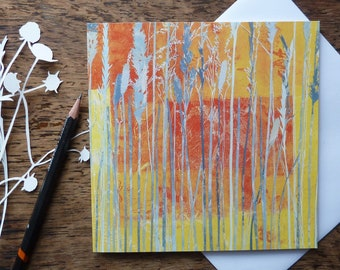 Wild Grasses Greetings Card, Meadow Card, Louise Pettifer, Gardeners Card, Flowers Card, Floral Card, Artist Cards, Blank Cards, FSC Cards