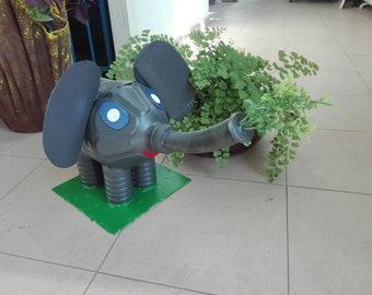 recycle, elepthen, gray, gardening. yard, accessoary, color, handmade