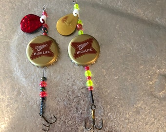 Miller HighLife bottle cap fishing lures