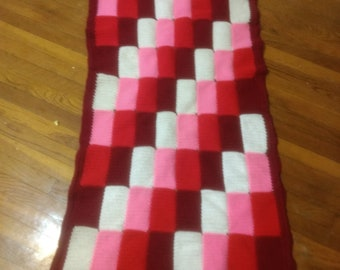 Little Red Patchwork Blanket