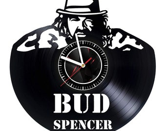 7b8772cedbd Bud Spencer Actor Wall Clock Vinyl Record Gift Idea For Birthday Wedding  Anniversary Christmas Everyone Living Bedroom Design Kidsroom