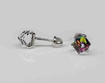 da4a0ae689d56 Crystal cube earring | Etsy
