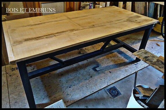 Raw Wood Dining Table Etsy