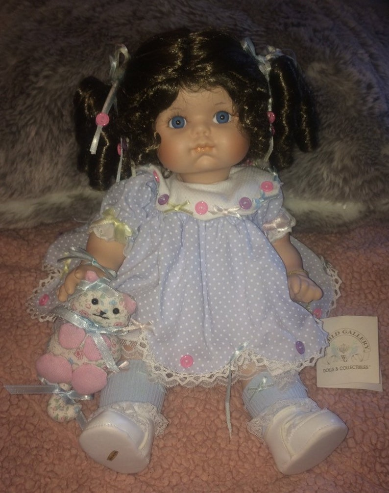 Colleen Applewhite Buttons & Bows Porcelain Doll, World Gallery Collection  16in T