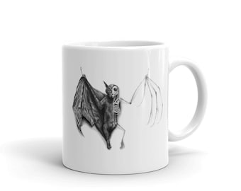 Half Taxidermied Bat Mug