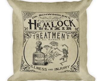 Dr. Schwindler's Original Hemlock Elixir Square Pillow