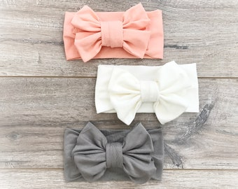 Baby Girl Bows Etsy