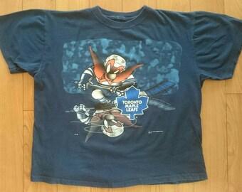 a74170038 Official 1990 NHL Toronto Maple Leafs Looney Tunes Shirt Yosemite Sam Vintage  vtg Hockey Starter Tee