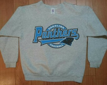 Vintage Carolina Panthers Logo 7 NFL Football Pullover Sweatshirt Sweater  Shirt M Medium vtg tee starter Salem super bowl 8751bf607