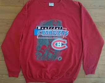e6dbab587 Official Vintage 90s NHL Montreal Canadiens Pullover Sweater L VTG Hockey  Trench Starter Salem CCM Nutmeg Maska Shirt Tee Gamegear