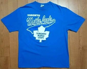 efad0750e VTG 1992 Toronto Maple Leafs Shirt XL Waves Starter Potvin Gilmour Vintage  Tee NHL Hockey