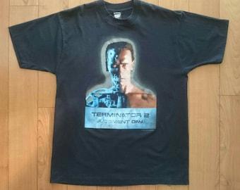 a8254128fc0 VTG 1991 Terminator 2 Judgement Day Shirt XL Extra Large Vintage Robocop  Sweater Tee Carolco Predator Schwarzenegger