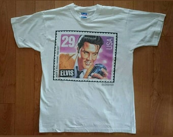 5cd51f24612a Vintage VTG Official 1992 Elvis Presley Enterprises United States Postal  Service Memorial Stamp T-Shirt Size XL Extra Large