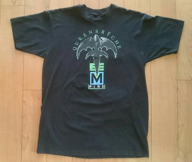 Vintage Queensryche Empire Shirt L Large VTG Tee Single Stitch Concert Tour Shirt Judas Priest Metallica Metal Prog Rock Dream Theater