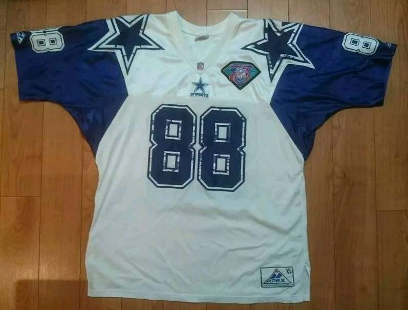 quality design 1766f 69e94 Vintage 90s Dallas Cowboys Michael Irvin Jersey XL Extra Large Apex One  Starter Puffer nfl football VTG Champion Shirt Tee Coat
