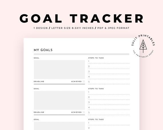 It's just a picture of Goals Printable in family