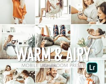 Mobile Lightroom Preset / Warm & Airy Everyday Mobile Preset / Blogger Preset for Light Enhanced Photos Editing / Adobe Lightroom Mobile