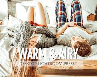 Lightroom Preset / Warm & Airy Preset / Photographer Blogger Preset for Light Enhanced Photos / Modern Editing / Adobe Lightroom