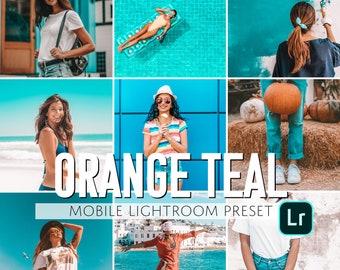 Mobile Lightroom Preset / Orange Teal Mobile Preset / Blogger Preset for Light Enhanced Photos Editing / Adobe Lightroom Mobile