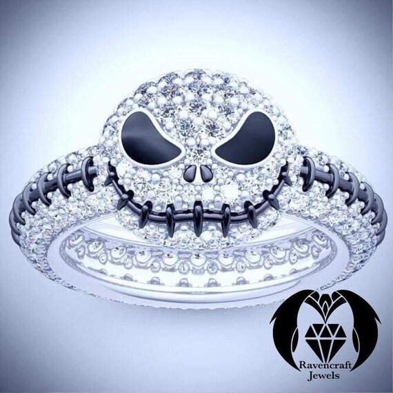 Nightmare Before Christmas Jack Skellington Diamond Ring