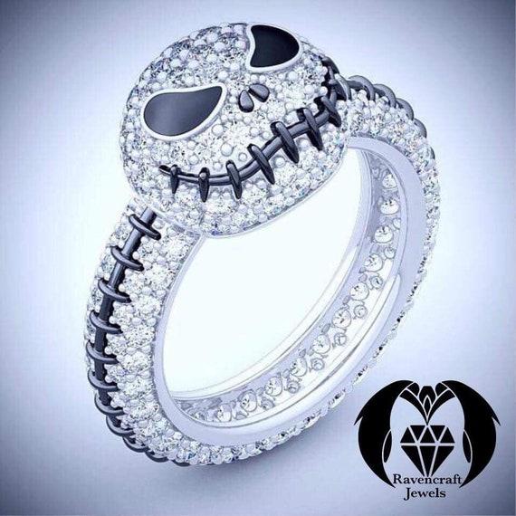 Nightmare Before Christmas Jack Skellington Diamond Ring Etsy