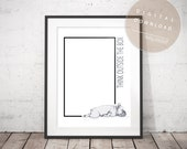 Think Outside the Box - Frenchie Dog PRINTABLE Phrase Art | French Bulldog Poster | Positive Thinking Success Quote | Creative Office Art
